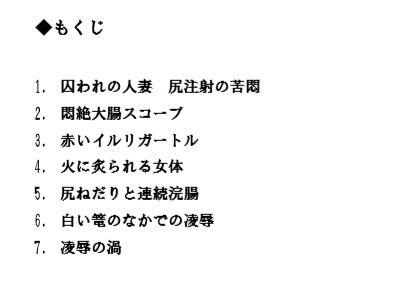 人妻弥英子 〜嗚咽の浣腸接待〜