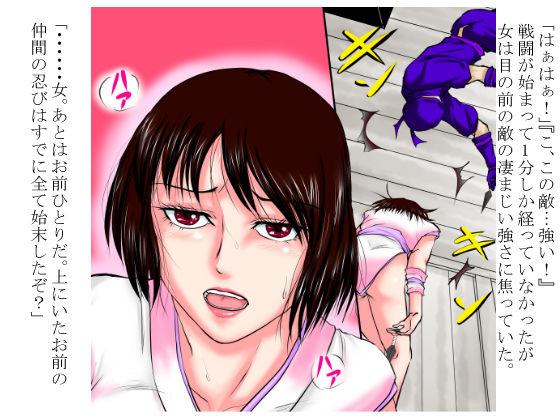 その女忍者は、侵入してきた凄腕忍者にまったく歯が立たないまま着物を剥がれ、嬲るように犯された。