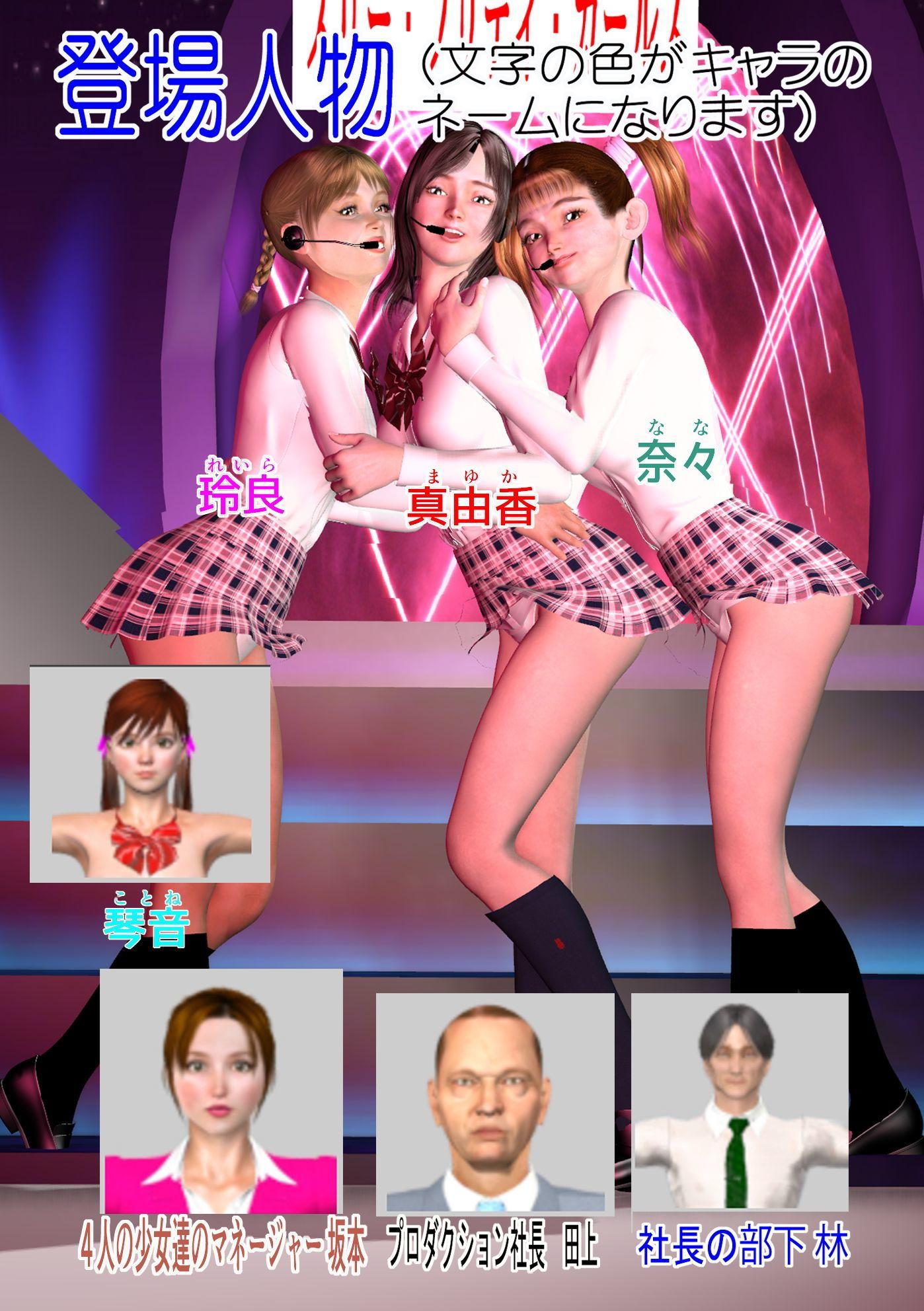 美少女アイドル割れ目開き 第3話 アイドル真由香,奈々陵辱