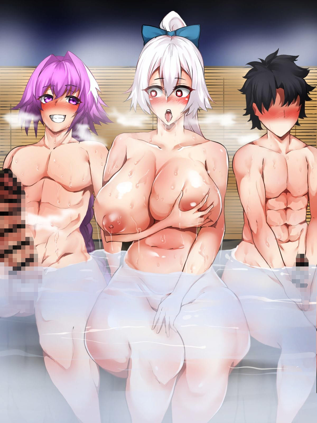 サンプル画像0:混浴温泉に入った巴さんは愛しのマスターよりもアストルフォのデカチンに夢中☆(ジョニー三号) [d_199628]