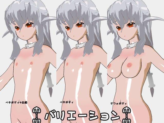 【3Dポーズ集 同人】ペタ丸ボディ+ディルドー