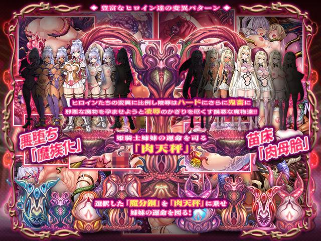 邪孕姫 〜魔物を孕むか狂乱か姫騎士姉妹を秤にかける〜のサンプル画像2