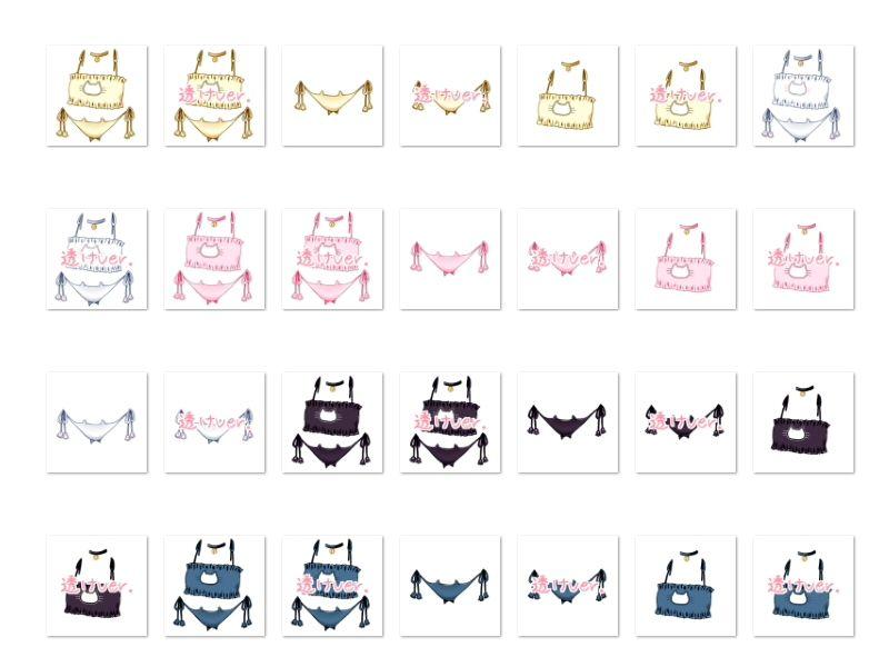 【White Candy 同人】佐野俊英があなたの専用原画マンになります衣装素材集A-ねこランジェリー-