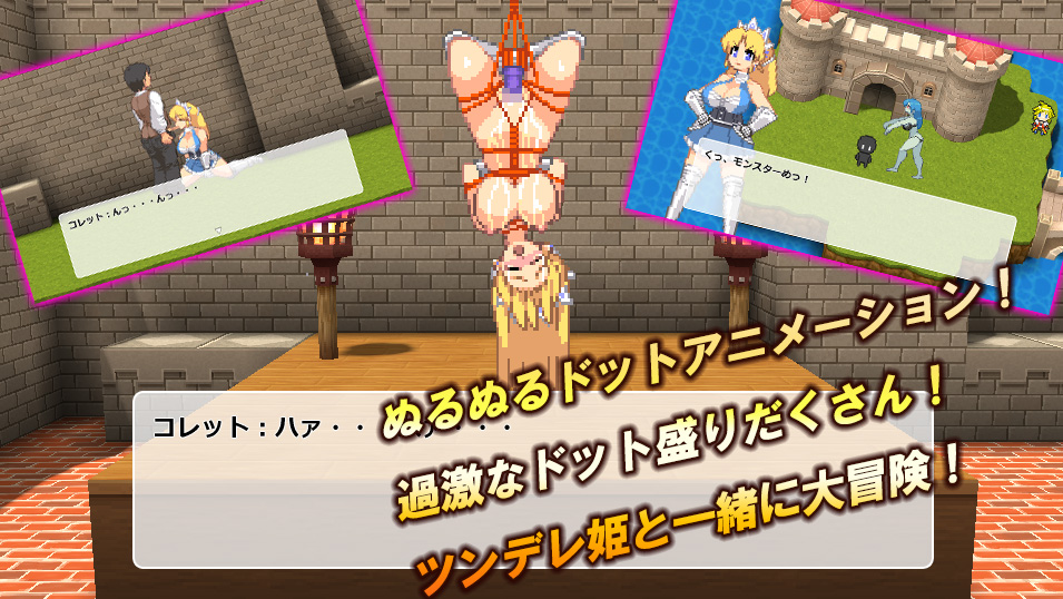 【WILD FLOWER 同人】ぬるぬるドットアニメRPGコレット姫の大冒険