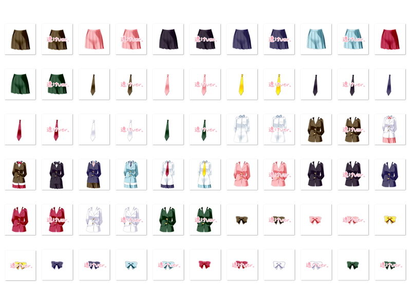 佐野俊英があなたの専用原画マンになります 衣装素材集ABC - ブレザー -