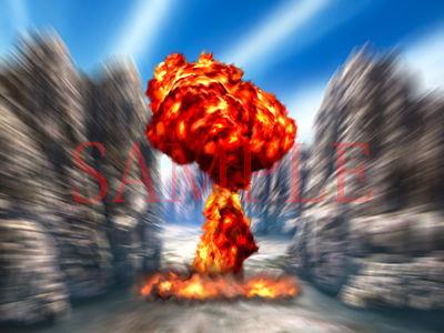 著作権フリー背景CG素材「爆発エフェクト」