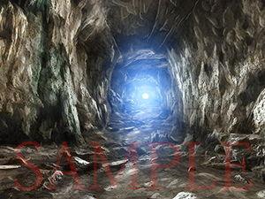 著作権フリー背景CG素材「洞窟」
