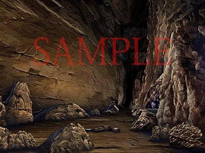著作権フリー背景CG素材「洞窟2」