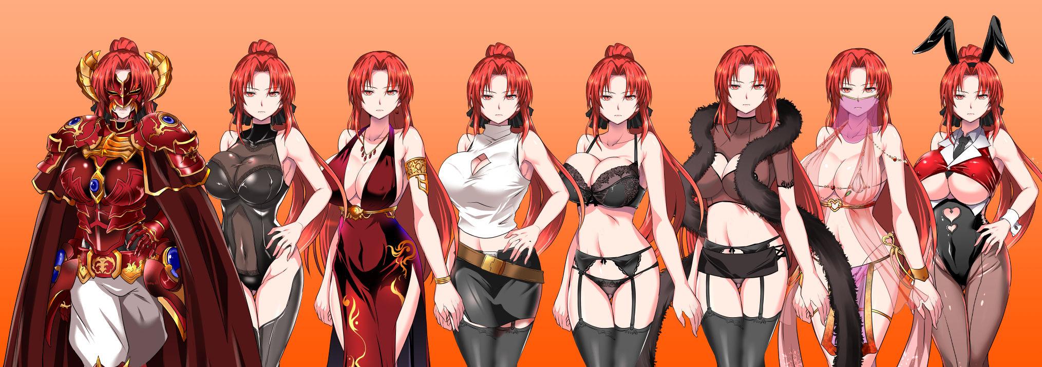 サンプル画像5:赤髪の鬼神(ぬこ魔神) [d_162783]