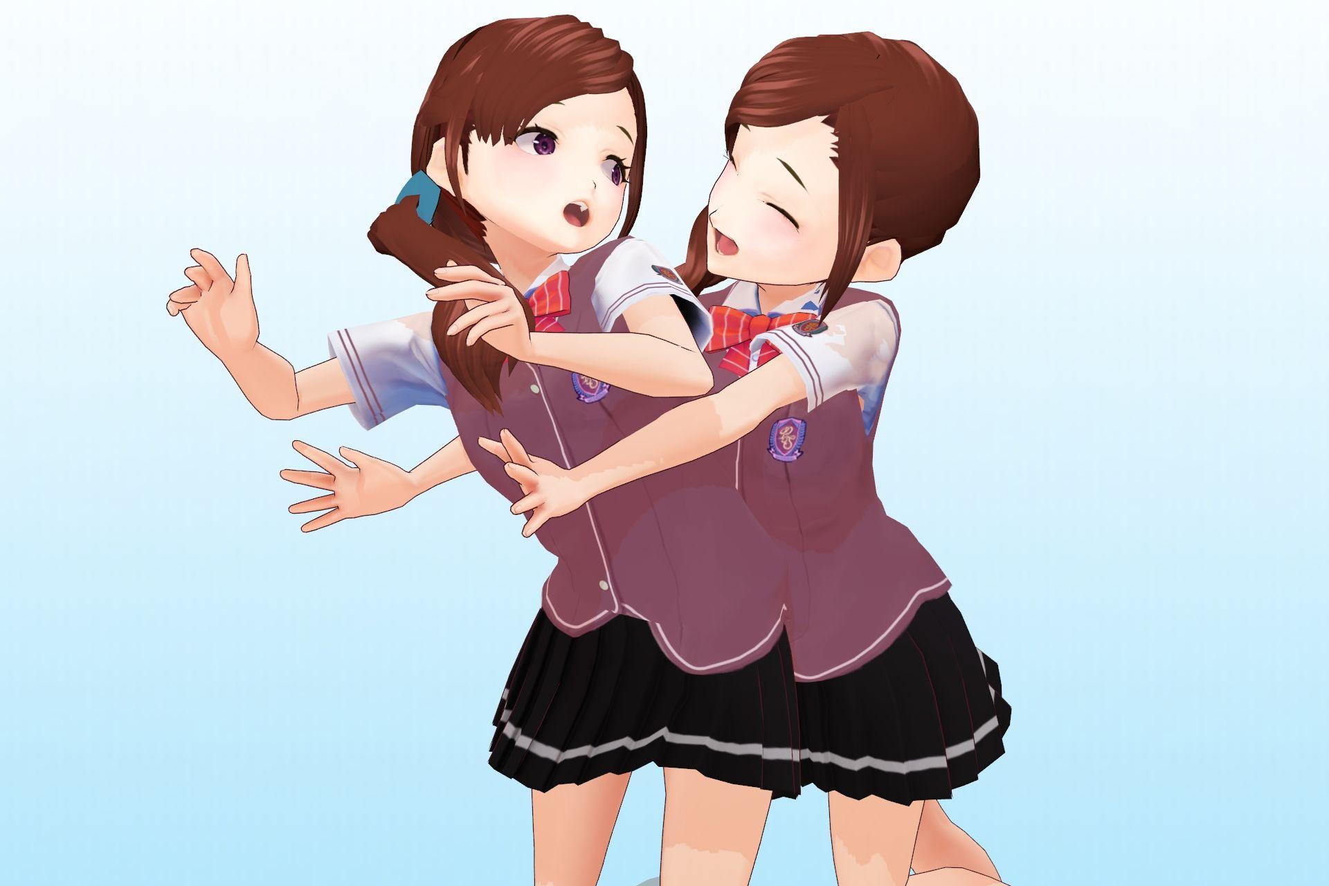 2年3組 出席番号15番 白峰恋 夏服3Dモデルデータ