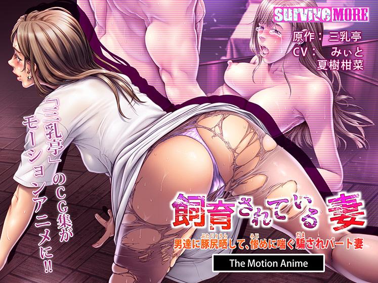 飼育されている妻  男達に豚尻晒して、惨めに喘ぐ騙されパート妻  The Motion Anime パッケージ写真