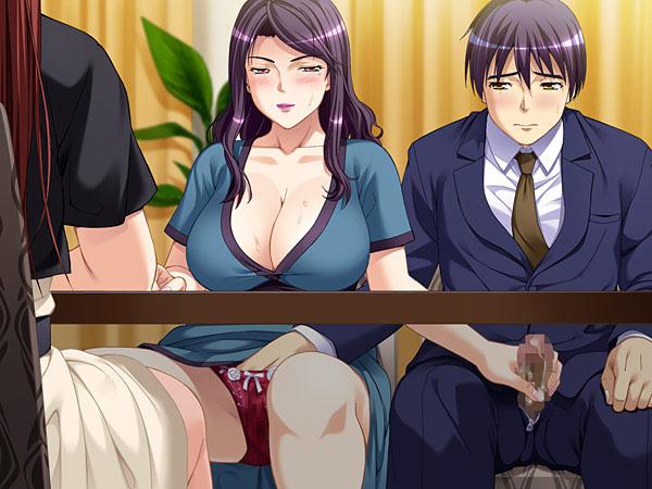 サンプル画像_ポルノ作家麻由華 と、淫熟未亡人と堅物編集者とウブ義姉