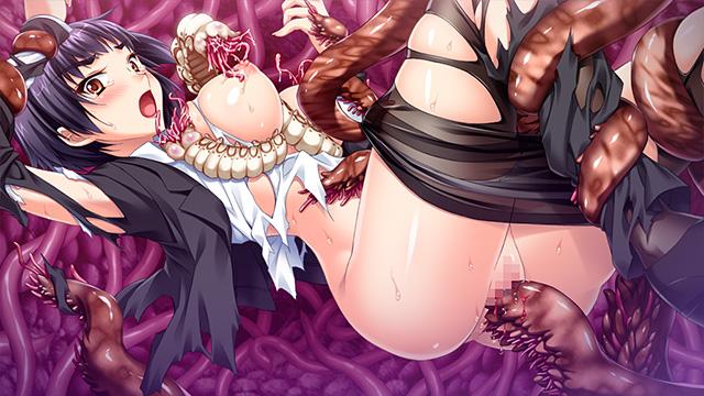 敗北の淫獣ハンター・月氷姫レイ 名門女学生と共に触手の苗床にされる美少女剣士 2