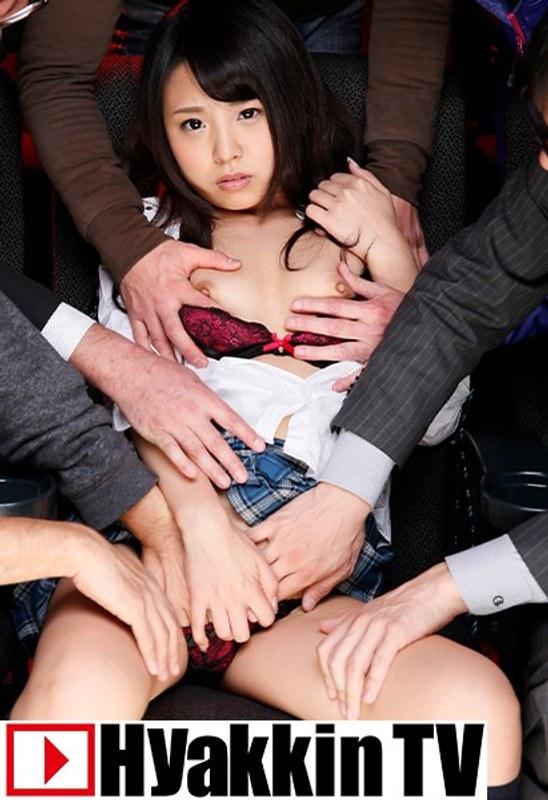 制服の橋本麻耶が映画館でヤられて大人数からぶっかけられる!