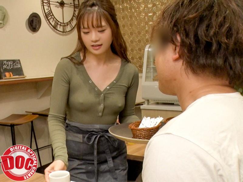 まさかノーブラ!?貧乳美人店員がコリコリに勃った乳首に気付かず働く姿に興奮してしまい… 4