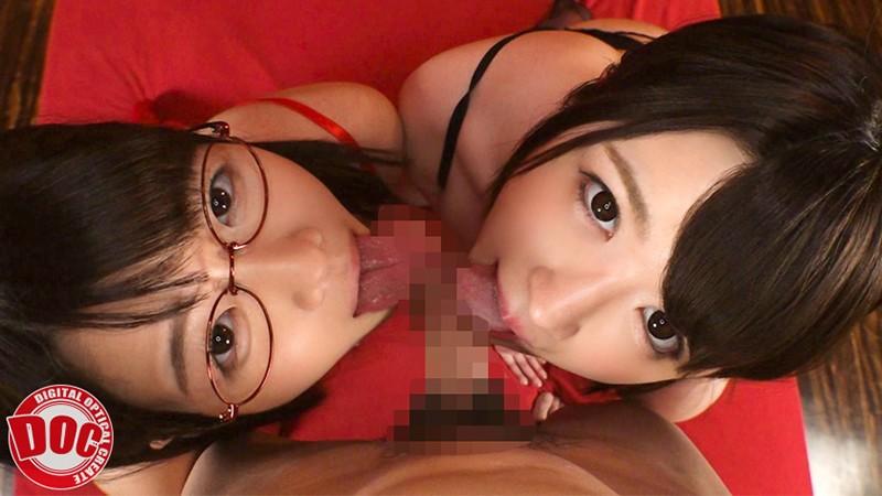 佐知子と辻井ほのかのダブルフェラ