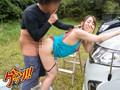 一緒に洗車に来たツレの彼女がまさかのノーブラ◆ 無防備すぎ...sample13