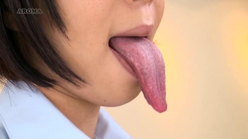 舌頂!超ベロ長フェチシズム 枢木みかん|無料エロ画像2