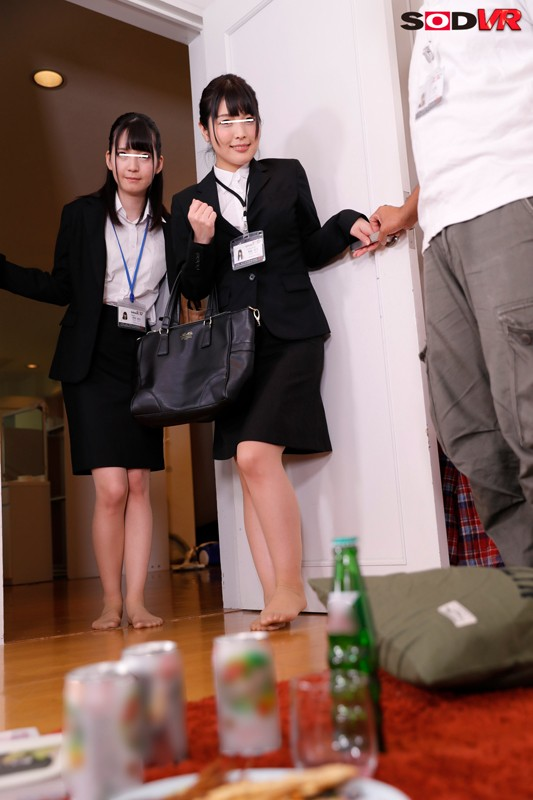 【エロVR】SOD社員はガチでエロかった!宅飲みで酔った美人社員たちと3Pセックス