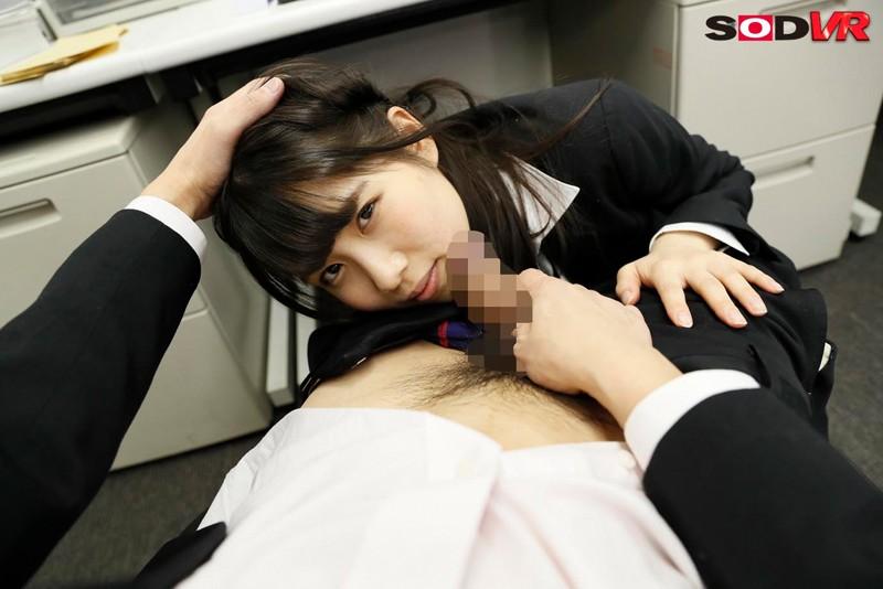 【VR】隣の席は美人後輩女子社員相沢さつき 残業後の誰もいなくなった深夜のオフィスで無理やりストッキング引き裂き強制押さえ込み生セックス キャプチャー画像 6枚目