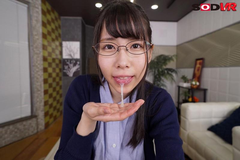 【VR】清楚系地味子が実はビッチ 耳元で官能小説を読みながらまたがって腰を振ってくる! キャプチャー画像 10枚目