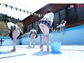 【VR】プール掃除の時間 デッキブラシがけパンチラVRsample8