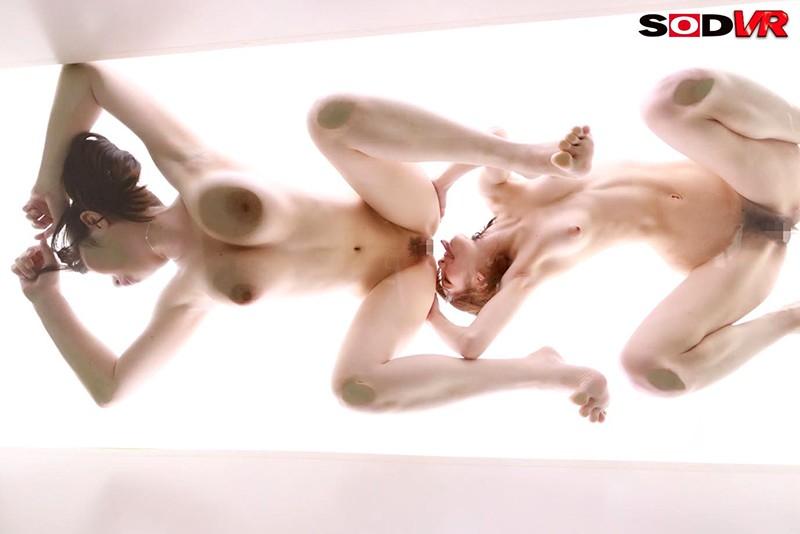 【VR】超絶景!下から見上げるレズセックスVR