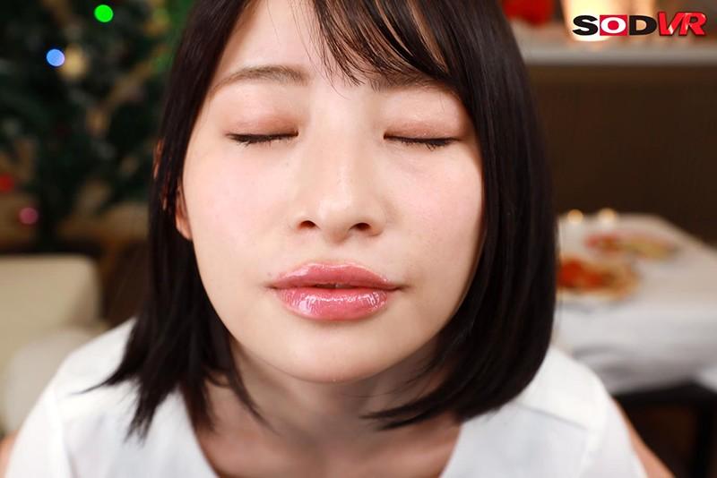 【VR】ぷっくりエロ唇のキス魔な年下彼女と 最初から最後までずうっ~と甘えキス・本気ベロちゅうで キス100回以上のラブラブ濃密な聖夜VR! 宮島めい