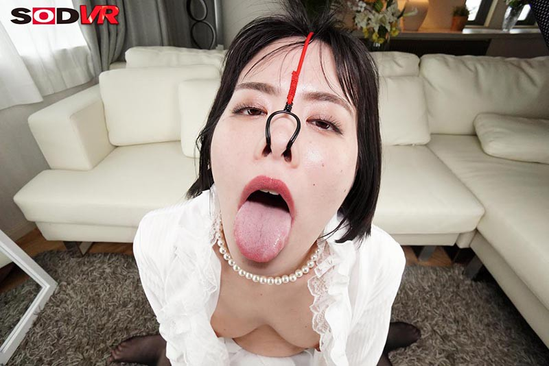 【VR】美女の鼻フックSEX 高飛車な女の歪んだブタ鼻顔をじっくり観賞しながらハメる侮辱セックス17
