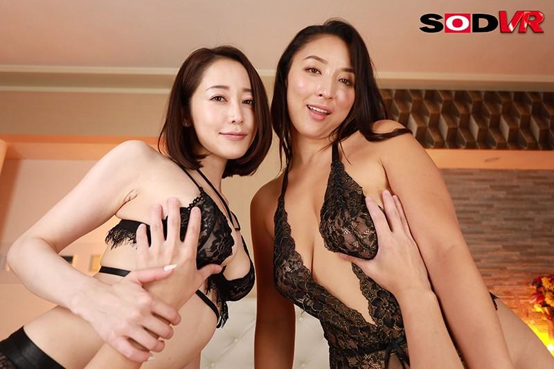 篠田ゆう,3P・4P,お姉さん,ハイクオリティVR,レズキス,巨乳,騎乗位