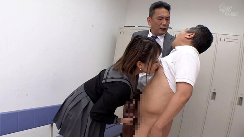 今井夏帆の乳首舐め手コキ
