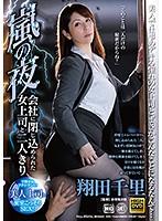 嵐の夜、会社に閉じ込められた女上司と二人きり翔田千里