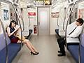 最終電車で痴女とまさかの2人きり!向かいの座席でパンチラし...sample14