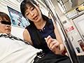 最終電車で痴女とまさかの2人きり!向かいの座席でパンチラし...sample17