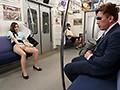 最終電車で痴女とまさかの2人きり!向かいの座席でパンチラし...sample2