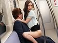 最終電車で痴女とまさかの2人きり!向かいの座席でパンチラし...sample7