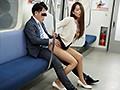 最終電車で痴女とまさかの2人きり!向かいの座席でパンチラし...sample18
