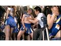 ムレムレチアガールバス チアブル湿度数200%… 運動直後のムレた女子大生満員バスでチラリズムに導かれて強●発射!
