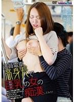 満員電車、高身長で巨乳の女の胸が小柄な俺の顔にむぎゅうと押し当てられる。恥ずかしそうに顔をそむけながらもその場を離れないので痴漢してみた! ダウンロード