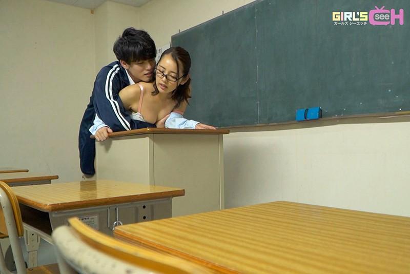 生徒に人気の体育教師と真面目な国語教師がナイショの中出し-16 イケメンAV男優動画/エロ画像