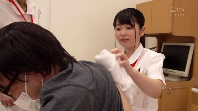 ぶっかけられた巨乳看護師 赤渕蓮 1枚目