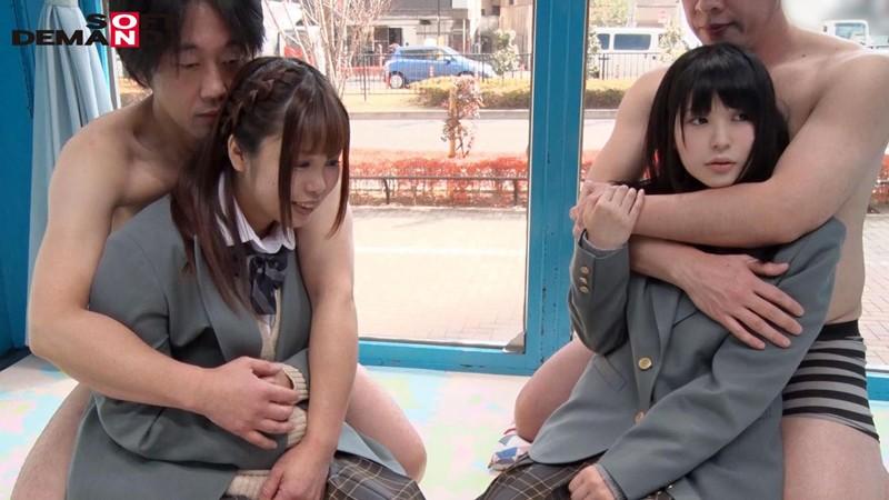 すみれちゃんとひなたちゃん マジックミラー号 修学旅行中に初4Pで初イキ! キャプチャー画像 10枚目