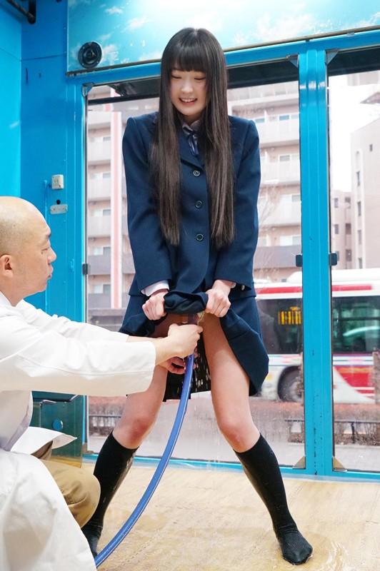 みれいちゃん(18)女子○生 マジックミラー号 膣内洗浄により、溢れる水、漏れる吐息。ついでにチ○コも挿入。 キャプチャー画像 5枚目