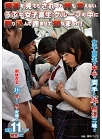 痴漢を見てもされても何も言えないうぶな女子校生グループの中に割り込んで囲ませて犯りまくれ! ダウンロード