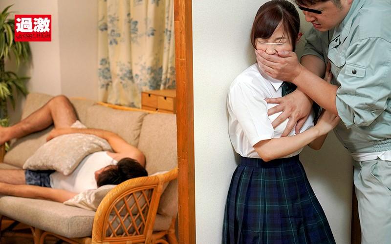 上司が寝ている隣の部屋で娘の女子○生を壁に押し付け子宮に精子がかかるほど奥中出し3 画像14