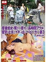 産後処女を奪われ一度イッたら長時間アクメで痙攣が止まらないイキッぱなしベビーカー妻3 中出しSP 1nhdtb00327のパッケージ画像
