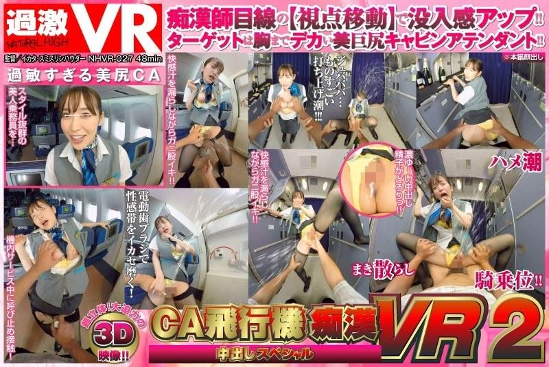 【VR】CA飛行機痴漢 中出しスペシャル VR 2のジャケット画像
