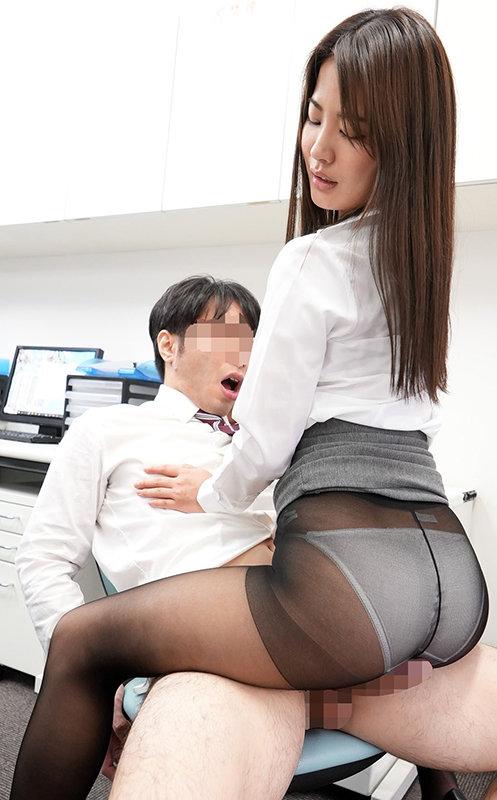 黒パンストOLのプリ尻に誘われて休憩時間オフィスで昼間っからパンスト破いてヤッちゃいました 水谷あおい6