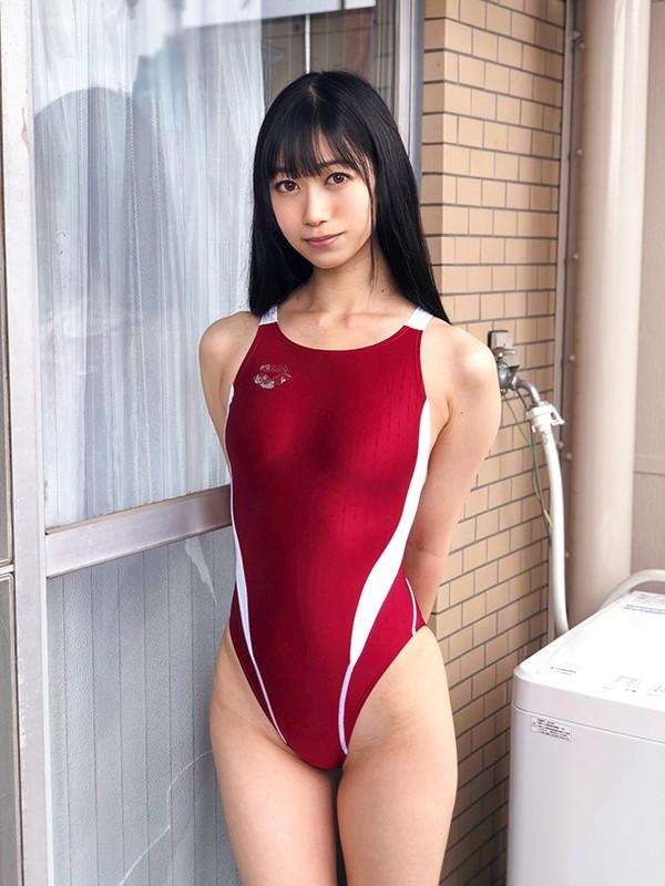 濡れてテカってピッタリ密着 神競泳水着 黒川すみれ ロリ可愛い女子の競泳水着姿をじっとりと堪能!のスクリーンショット