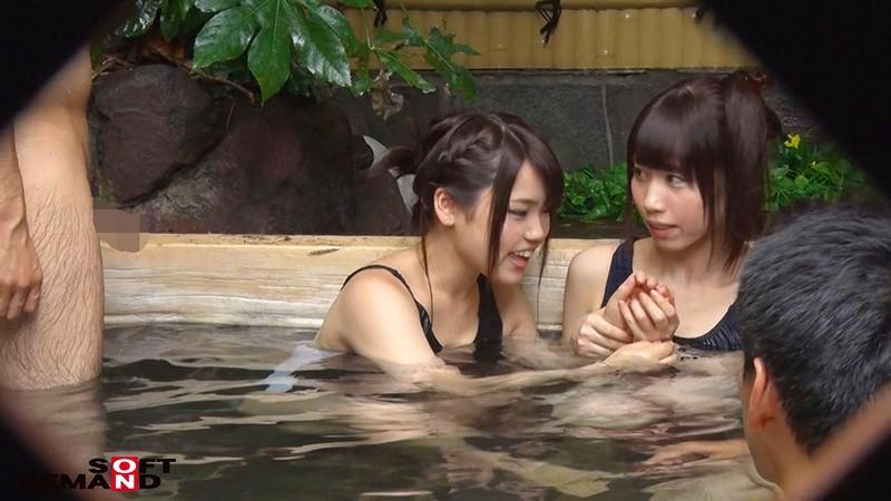 さくら・ももか 箱根温泉で見つけた修学旅行中の学生さん 友達と一緒に男湯入ってみませんか? キャプチャー画像 3枚目